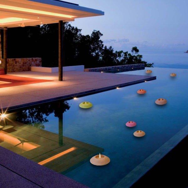 επιπλέοντα κεριά για πισίνα kerino δίσκοι για πισίνα