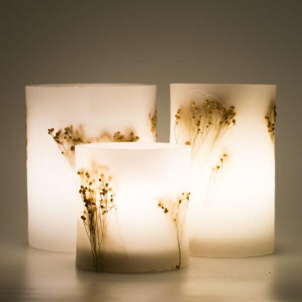 γυψοφύλλη φυσική φανάρι κερί αναμμένο