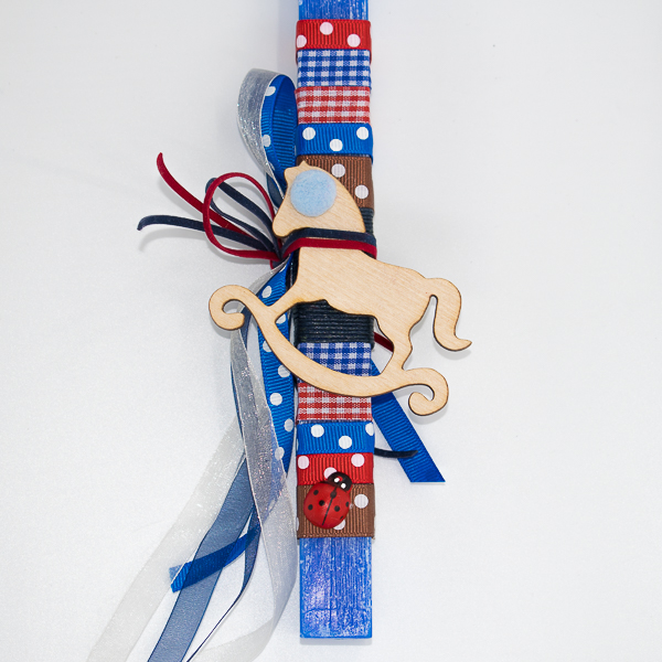 πασχαλινές αρωματικές λαμπάδες χειροποίητες με διάκοσμο καλλιτεχνικές kerino κεριά στολισμένες