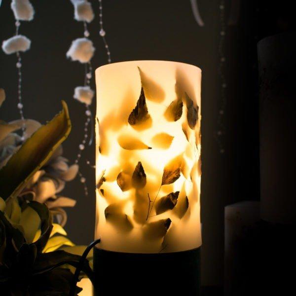 φωτιστικά κέρινα led με διάκοσμο kerino botanical lanterns