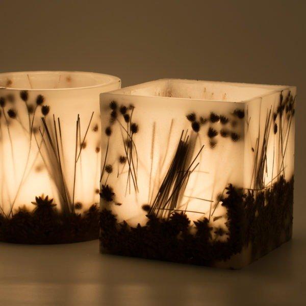διακοσμητικά κεριά καλλιτεχνικά αρωματικά kerino φανάρια botanical lanterns