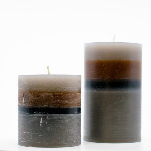 αρωματικά κεριά χειροποίητα kerino γκρι καφέ μαύρο