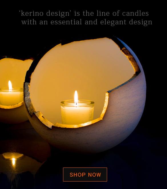 kerino design κεριά διακοσμητικά