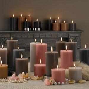 κορμοί κεριά kerino άοσμα χρωματιστά