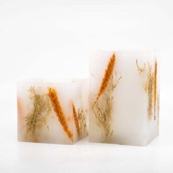 Φανάρι κερί Διακοσμητικό με σταχυ και Brisa Φυσική