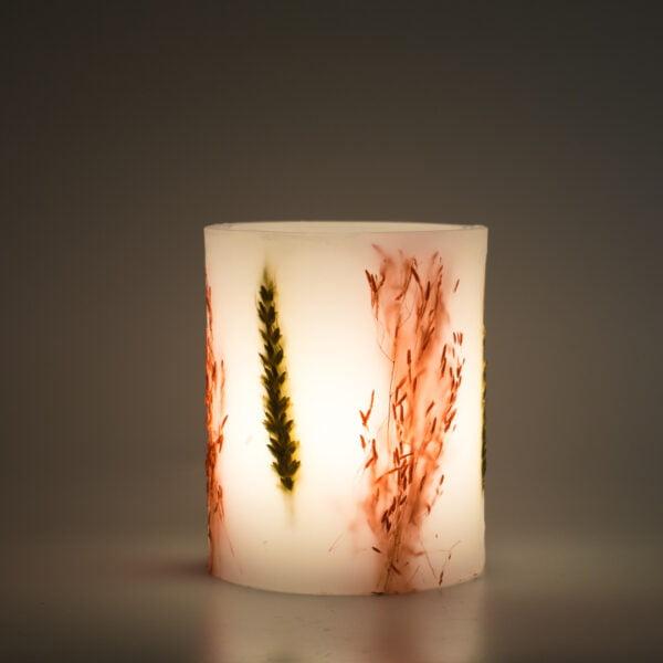 φανάρι κερί διακοσμητικό με στάχυ και brisa