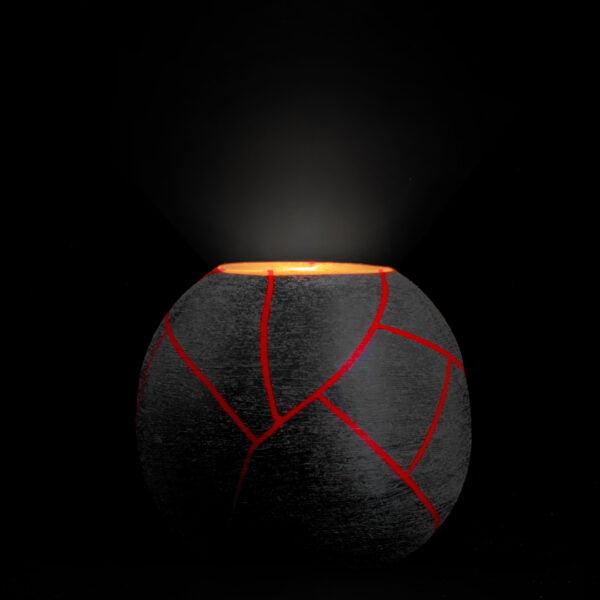 χειροποίητο διακοσμητικό κερι red planet