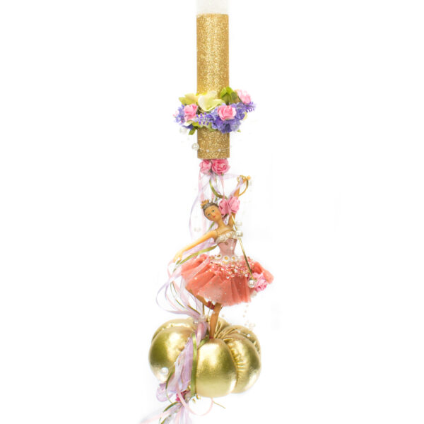 Λαμπάδα Πριγκίπισσα σε χρυσή κολοκύθα 4233 3071