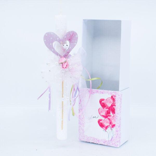 Λαμπάδα με κουτί Καρδιά 455