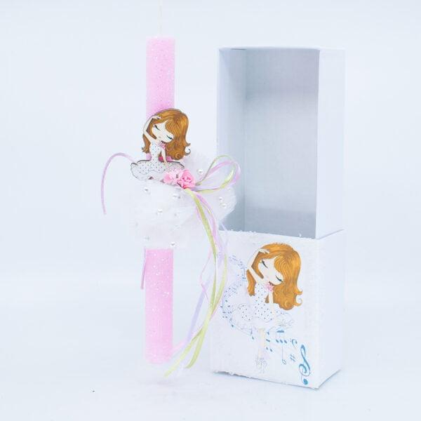 Λαμπάδα με κουτί Μπαλαρίνα 366