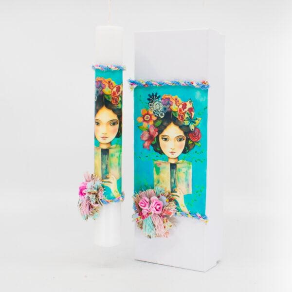 Λαμπάδα με κουτί κορίτσι 354
