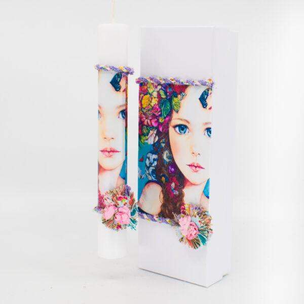 Λαμπάδα με κουτί κορίτσι 356 1