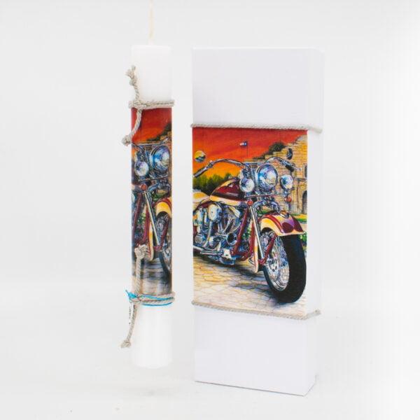Λαμπάδα με κουτί μοτοσυκλέτα 357