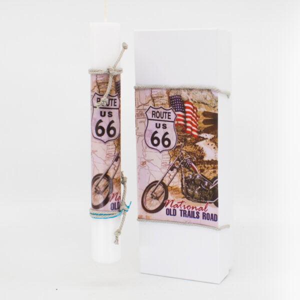 Λαμπάδα με κουτί Route 66 454