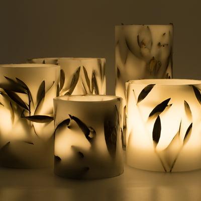 Botanical Wax Lanterns